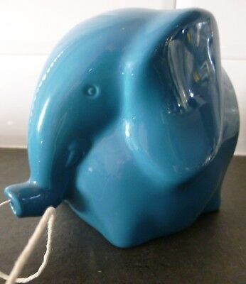 Collectable Lord Nelson Pottery Blue Elephant  String/wool. Dispenser.