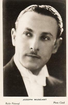 Joseph Muscant British Radio Pictorial Photo Card Broadcasting BBC 1930's