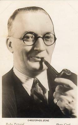 Christopher Stone British Radio Pictorial Photo Card Broadcasting BBC 1930's
