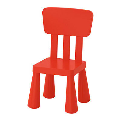 IKEA MAMMUT Children's Chair Red Plastic Assembly Required NEW 403.653.66
