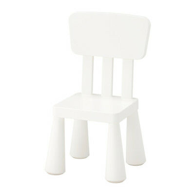 IKEA MAMMUT Children's Chair White Plastic Assembly Required NEW 403.653.71