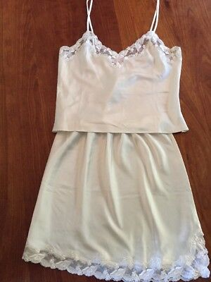 Victoria's Secret Lace Camisole and Slip Off White Size Small
