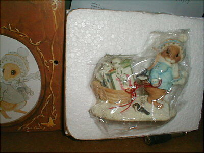 Vintage 1996 Enesco Priscilla Hillman Mouse Tales I'll Be Home For Christmas NEW