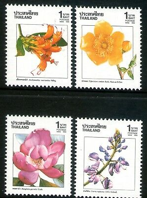 Thailand 1989 New Year Flowers set of 4 Mint Unhinged