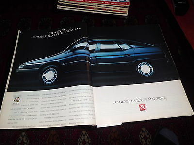 CITROEN XM car of the year 1990  advert  Werbung Fortune  1990 June