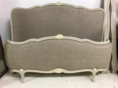Vintage French King Size Bed - New Upholstery - pt33