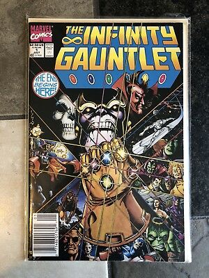 Infinity Gauntlet #1  First Issue Thanos Appearance Newsstand Edition UPC