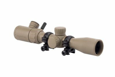 Monstrum Tactical 3-9x32 Rifle Scope Rangefinder Reticle and Scope Rings, Tan