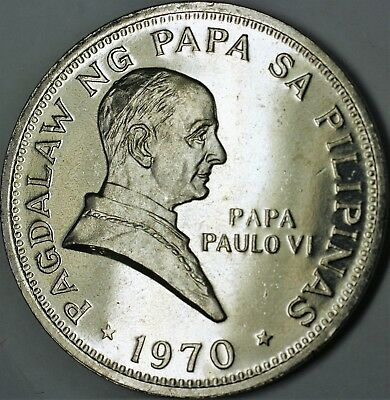 1970 Philippines Pope John Paul Visit Brilliant Uncirculated Coin