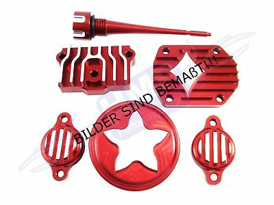 hmparts Dirt Pit Bike Monkey Performance Engine Cover Set Lifan 125-150 cc Red