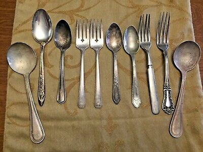 Mixed Silver Plated Flatware