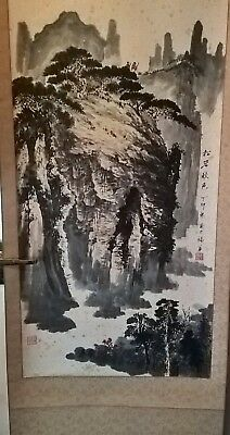large antique scroll painting