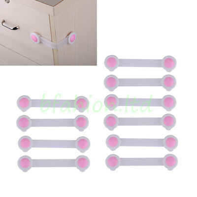 10 Child Kids Baby Pet Proof Security Safety Cabinet Drawer Cupboard Fridge Lock