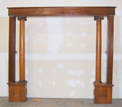 Original Antique Quarter Sawn Oak Colonnade, Room Divider, Decorators Supply Co.