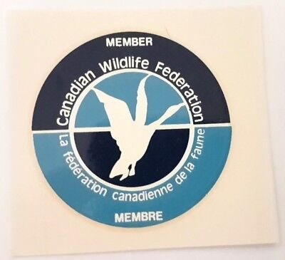 Bilingual Pair Of Canada Wildlife Federation Member Transfers for Windshield