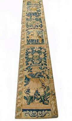 A Rare and Exceptional 10 Feet Long Wool & Silk Tapestry Panel With King