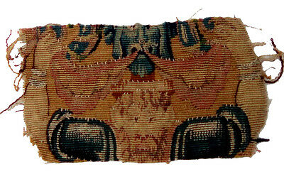 An 18th Century Tapestry Fragment w/ Bearded Man Lifting Hands Up