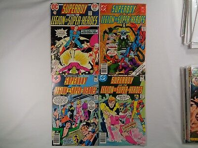 Superboy and the Legion of Super-Heroes Lot of 4 #199 #230 #257 #258 Bronze Age