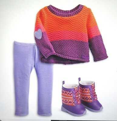 """American Girl Truly Me Warm Winter Outfit Set 18"""" Dolls NEW NIB boots shoes"""