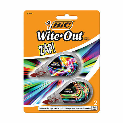 BIC Wite-Out Brand ZAP! Correction Tape, 2-Count
