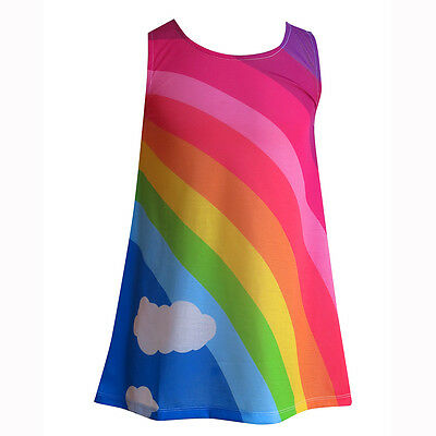 Girls dress :: designed by deezo : Classic Rainbow :: size 2-12 :: FREE DELIVERY