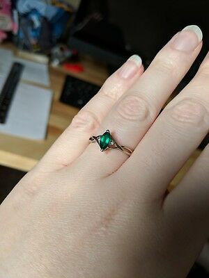 Emerald Ring and Earring Set White Gold