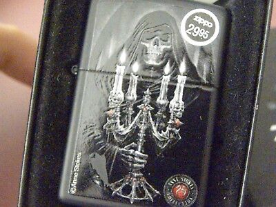 Zippo #28857 Anne Stokes Collection #4 Black Matte - Deaths Light   MIB NOS! NEW