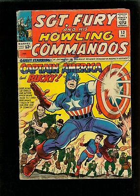Sgt. Fury and His Howling Commandos 13 GD/VG 3.0
