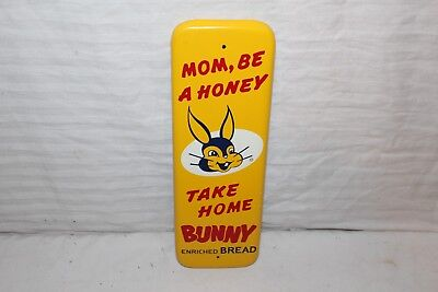 Rare Vintage 1950's Bunny Bread Gas Oil Soda Pop Metal Door Push Sign~Nice