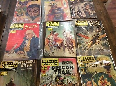 "Lot Of 29 Vintage Classics Illustrated Comic Books Gilberton 1940's-50's-60""s"