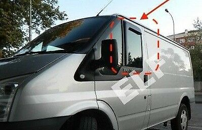 Brand New Ford Transit MK6 & Mk7 Van Wind & Rain Deflectors  L-Shaped Front Set