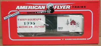 Lionel American Flyer Trains 6-48323 1995 Christmas Boxcar S Gauge S Scale NOS