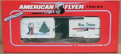Lionel American Flyer Trains 6-48325 1996 Christmas Boxcar S Gauge S Scale NOS