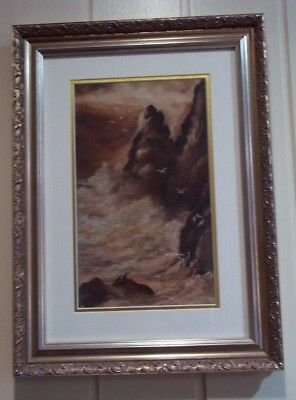 Antique Coastal Oil Painting , circa early 1900's
