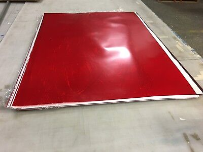 """5 SHEETS .006 RED RUBYLITH 32"""" x 42"""""""