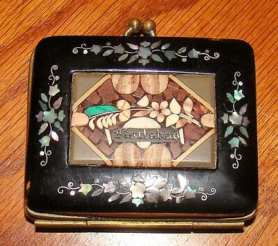 Antique Karlsbad (Carlsbad) Mosaic Coin Purse with Mother of Pearl