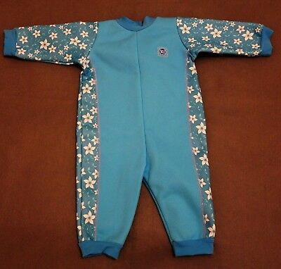 Splash About Warm In One Baby Thermal Wetsuit Blue Large 6-12 Months