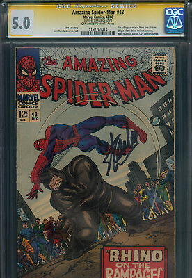 Amazing Spider-Man # 43 - CGC 5.0 - signed by Stan Lee - 1st full Mary Jane !!!