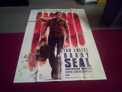 "Affiche Cinema 120*160 Du Film ""barry Seal"" Tom Cruise Neuve"