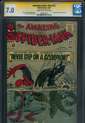 Amazing Spider-Man # 29 - CGC 7.0 - ss. by Stan Lee - 2nd app. of Scorpion !!!