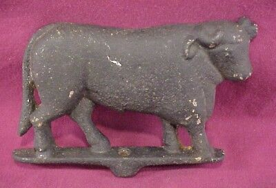 Late19th Century Gloeklers Cast Iron Bull Sign for Antique Butcher Meat Rack