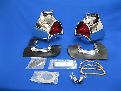 57 Chevy Taillight Housing Assembly Show Quality Made In Usa 1957 Chevrolet