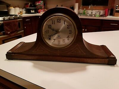 Vintage Antique Plymouth by Seth Thomas 8 Day Wood Mantle Clock - As-Is