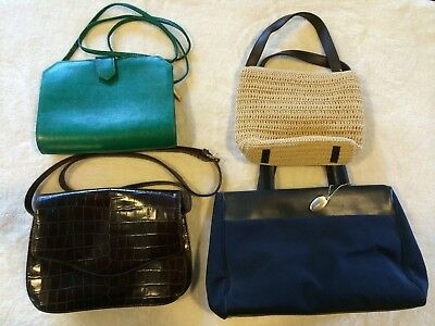 Lot Collection of Four (4) Liz Claiborne Pre-Owned Women's Hand Bags