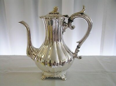 Antique Victorian James Dixon & Sons Silver Plated EPBM Coffee Pot c1880's
