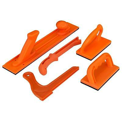 Orange Plastic Safety Push Block and Stick Set Woodworking Router Table 5-Pieces