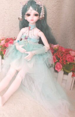 D01 1/4 Girl Super Dollfie Normal Skin Coordinate Model Fullset BJD Doll O