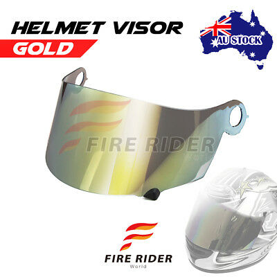 For Suomy Spec 1R Extreme Excel Ultra Tech GOLD Racing Helmet Visor Shield AU