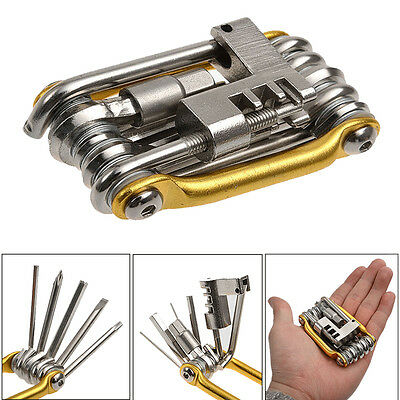 11 in 1 Multi-Function Bike Bicycle Repair Tools Pocket Folding Tool Wrench ZY