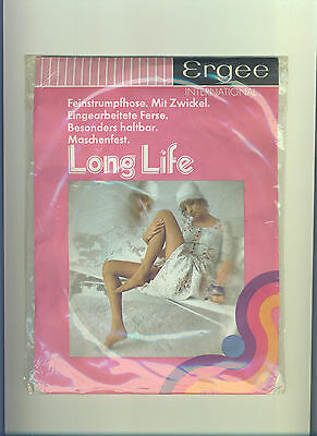70er Feinstrumpfhose *Ergee Longlife* Gr. 38-40 / I *Collant*Tights*Panty(187